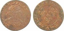 Louis XIII, double tournois, 1639 Vallée du Rhône, cuivre - 133
