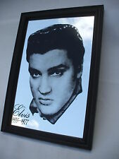 VINTAGE ELVIS PRESLEY MIRROR PHOTO ,ROCK & ROLL  KING 1935 -1977 ,EUROPE