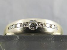 CHRIST Diamant Ring 14K 585 Gold bicolor 9 Brillanten 0,28 ct. Wesselton Gr. 57