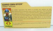 GI Joe File Card for Scarred Cobra Officer v6 2008 25th Anniversary Series