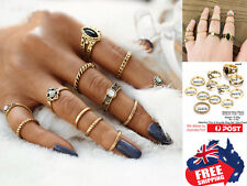 12pcs Vintage Style Women Boho Midi Finger Rings Set Stack Above Knuckle Jewelry