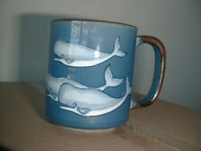 Blue Coffee Mug with Whales  Never Used  Whale
