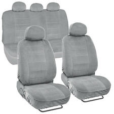 Car Seat Covers Encore Material Gray Cloth Set of 9pc Padded