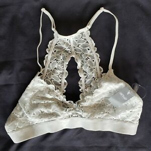 Aerie Pale Green Flower Lace Lacy Bralette Size Small New