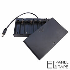 Enclosed 8xAA Battery Box for Electroluminescent Panels, Sheets and Tape