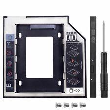 9,5mm Caddy SATA 2nd HDD SSD Hard Drive CD/DVD-ROM Bay Adapter Optical R1T8