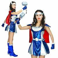 Valkyrie Costume Adult Female Thor Marvel Superhero Halloween Womens Fancy Dress