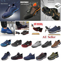 AtreGo Men Safety Steel Toe Cap Anti-puncture Boots Work Military Outdoor Shoes