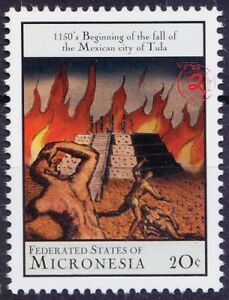 1150 Fall of Mexican City Tula, History, Micronesia 2000 MNH Millennium
