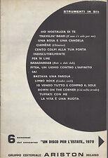 16 BRANI DI SUCCESSO # SPARTITO - Edizioni Ariston 1970 - Strumenti in SIb