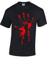 Sangre Mano Camiseta Estampada Hombre Mujer Zombie Gótico Terror Resident Evil