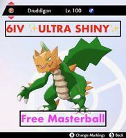 -Pokemon Sword and Shield- ✨Ultra Shiny✨ 6IV Druddigon FAST DELIVERY