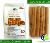 Ceylon Cinnamon sticks - Organic High Quality Pure Natural True Sri Lankan 100g
