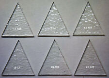 "6 CLEAR 1 1/2"" TALL TRIANGLES 3mm BULLSEYE 90 COE COMPATIBLE GLASS FOR FUSION"