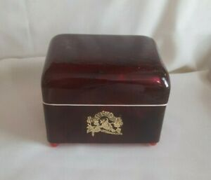 VINTAGE JAPANESE BLACK LACQUER MUSIC JEWELRY BOX WITH DANCING BALLERINA