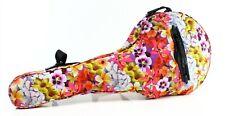 Rebecca Minkoff Pink Tropical Floral Print Tennis Racquet Nylon Cover Bag