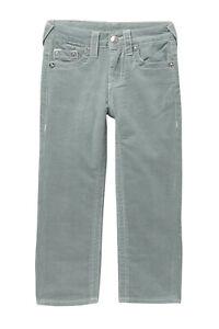 $90 True Religion S.E. Straight Corduroy Gray Pants Jeans - 16 Youth Boy