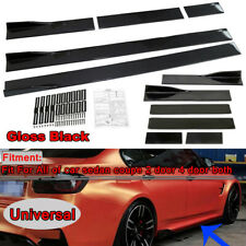 "86""x5.3"" Universal Black Car Side Skirt Rocker Splitters Winglet Wings Protector"