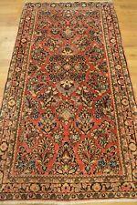 5' x 3' Persian Sarouk Handmade Weaved Genuine Antique Persian Rug - Free Ship!