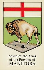Shield of Arms MANITOBA Canada Grant-Mann Heraldic Postcard