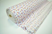"""12 Yards Tri-Color Flowers Print Quilt Fabric Apparel Upholstery 45"""" Wide #118"""