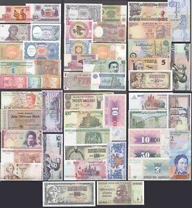 ca. 50 Stück verschiedene Banknoten Welt meistens bankfrisch UNC GELEGENHEIT