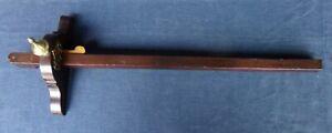 "Antique Rosewood & Brass 24"" Panel Marking Gauge"