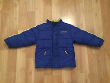 KIDS POLO SPORT RALPH LAUREN PUFFER JACKET YOUTH SIZE 6 BLUE YELLOW VTG 90's