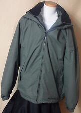 Men's Free Country Green and Black Dobby Polyester Jacket with Hood Sz XL