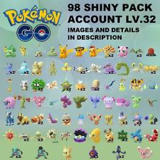 Pokémon Go ACCOUNT SHINY x98✨ PIKACHU HAT GOLDEEN YAMASK GIBLE ALOLAN SABLEYE