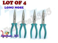 LOT 4 -LONG NOSE PLIERS 6 INCH NEW HAND TOOLS JEWELRY BEADING, HOBBY CRAFTS WORK