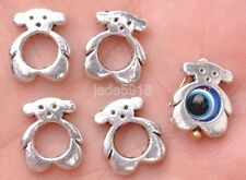 40pcs Tibetan silver bear Charm Spacer beads Beads frame 13MM