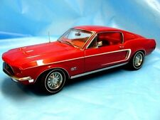 Autoart 1968 Ford Mustang GT - 1:18 Auto Art Diecast - Rangoon Red - Mint