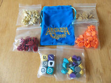 Arcadia Quest: Inferno: Dice Bag, Sculpted Guild Tokens, Guild Dice, Coins etc