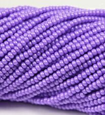 "Czech Glass Seed Beads Size 10/0 "" TERRA PEARL OPAQUE LILAC "" Strands"