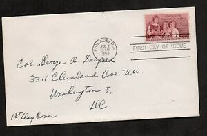 """US #1093, EFO FDC, with misspelled """"Philadelpia"""" in dial machine cancel."""