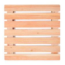 Pedana antiscivolo per piatti doccia 60 x 60 con assi in legno larice e piedini