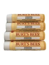 4 Burt's Bees Hydrating Coconut Pear 100% Natural Lip Balms Sealed 4.25g Each