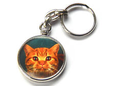 BRITISH SHORTHAIR RED TABBY Cat Kitten Quality Chrome Keyring Picture Both Sides