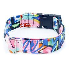 """Graffiti Dog Collar 1"""" - 2"""" Width Street Tag Pop Art"""