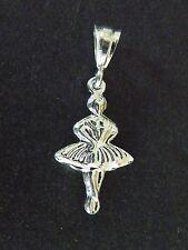 Sterling Silver Dancer Ballerina Charm Pendant
