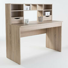 Albion Oak Computer Desk with Hutch