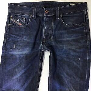 Mens Diesel LARKEE straight Regular fit Faded BLUE jeans W32 L33  (764b)