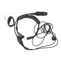 Adjustable Throat Earpiece Headphone Walkie Talkie Microphone for Motorola