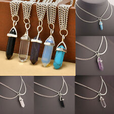 Lady fashion Retro Crystal Stone Pendant Statement Chain Elegant Choker Necklace