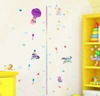 My Little Pony Height Chart Wall Sticker Removable Vinyl Decal Kids Decor Mural