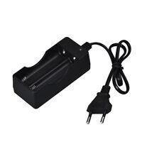 110V 220V Dual Chargeur 18650 3.7V Rechargeable Li-Ion Chargeur prise EU