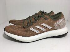 Adidas Pure Boost Khaki Orange B37786 Men's Running Shoes Size 10