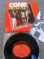 COKE LUXE - E ROCKABILLY! 45 RPM + CLUBE DO ROCKABILLY EDDY TEDDY POSTCARD MINT!
