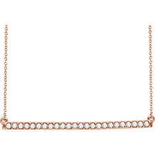 Diamante Barra 40,6 -45 , 7cm Collar en 14k oro rosa ( 1/3ct. TW